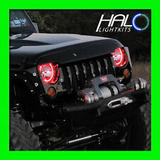 2007-2014 JEEP WRANGLER RED LED LIGHT HEADLIGHT HALO KIT (2 Rings) by ORACLE