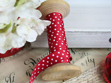 Polka Dot Grosgrain Ribbon 16mm Wide 2 METRES Spotty Polkadot Red Sewing Craft