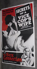 SECRETS OF A VICE COP'S WIFE orig 1974 SEXPLOITATION movie poster HERBERT FUX