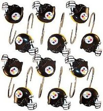 NFL Pittsburgh Steelers Shower Curtain Rings/Hooks-Sets of 12 NEW