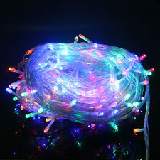 10 Meters 100 LED Electric String Fairy Lights Christmas Party Wedding Garden HK