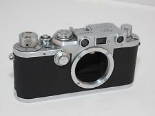 Leica IlIF black dial Rangefinder camera body. Uses Leica M39 Screw Mount Lenses