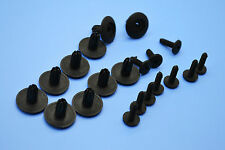 10PCS MAZDA BLACK PLASTIC RIVET TRIM PANEL RETAINER/FASTENERS CLIP