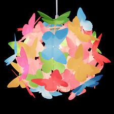 Moderno Multi Colore Farfalla Soffitto Pendente Luce Paralume ragazze camera da letto