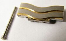 NEW EBEL CLASSIC WAVE 18k YELLOW GOLD/SS 18mm WATCH BRACELET LINK FOR BAND