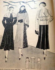 VTG 1930s PARIS SEWING PATTERN MAGAZINE LA FEMME CHEZ ELLE 1932 *PARIS DESIGNERS