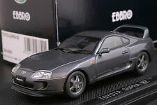 Ebbro 43840 1:43 scale Toyota Supra RZ JZA80 Die Cast Model Sport Car Gun Grey