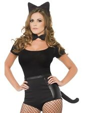 LADIES BLACK CAT SET FOR HALLOWEEN ONE SIZE ACCESSORY (ONLY THE SET)