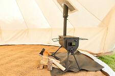 4m Bell Tent package complete glamping camping canvas tent stove woodburner