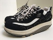 DE1 Skechers Shape Ups Toning Walking Trainers Black White Shoes Size 5 U.K.