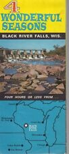 1960's Black River Falls Wisconsin Map 4 Wonderful Seasons