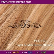 """DOUBLE WEFTED Full Head Clip In Remy Human Hair Extensions THICK 18/20/22"""" XL939"""