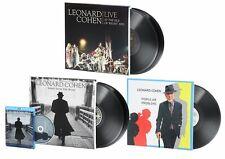 LEONARD COHEN - 5 LP's - 3 ALBUM's - Blu-ray+Bonus Feature- CD - BOOK - GATEFOLD