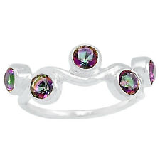 1.3cts Rainbow Topaz 925 Sterling Silver Ring Jewelry s.9 R5127MY-9