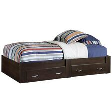 Twin Mate's Platform Storage Bed Drawers Cinnamon Cherry