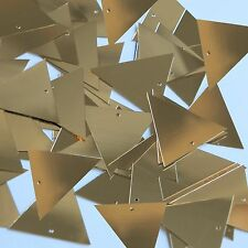 Sequin Pennant 30mm Gold Metallic Couture Paillettes. Made in USA.