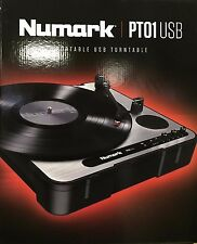 Numark - PT01 USB - Portable Vinyl-Archiving Turntable for 33 1/3, 45, & 78 RPM