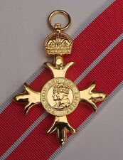 Full Size OBE Military Medal With 2nd Type Military Ribbon - Superb Quality