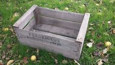 "VINTAGE WOODEN ""PRE WAR"" APPLE FRUIT CRATE RUSTIC OLD BUSHEL BOX SHABBY CHIC!"