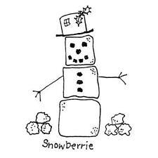 Snowman unmounted rubber stamp, winter, Christmas, snow man - Heart & Soul