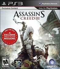 Brand New Assassin's Creed III 3 Assassins Video Game PS3 Sony Playstation #1