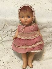 """Vintage Antique 12"""" Composition Strung Jointed Baby Doll"""