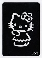 GT553 Body Art Temporary Glitter Tattoo Stencil Hello Kitty