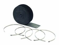 EXHAUST THERMAL HEAT WRAP TAPE BLACK 10M ROLL & STAINLESS TIES