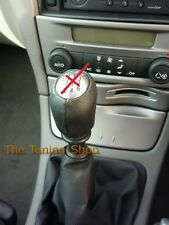 FOR RENAULT LAGUNA MK2 01-07 BLACK GEAR KNOB COVER GENUINE ITALIAN LEATHER NEW