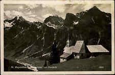 St. Magdalena im Gschnitz Tal Tirol Österreich s/w AK 1942 gelaufen Bergkirche
