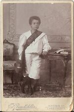 CAB photo Feiner Junge in interessanter Kleidung - Krems Langenlois 1900er