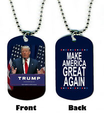 DOG TAG NECKLACE - Donald Trump #1 Make America Great Again Republican President