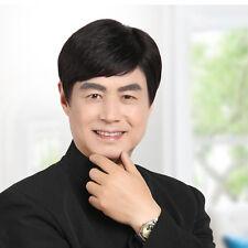 100% Human hair New Korean Fashion Handsome Men's Short Black Human Hair wigs103
