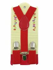 Kids Boy Girls Toddler Clip-on Suspenders Elastic Adjustable Braces