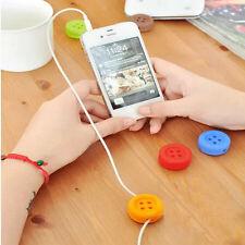 1 PCS Botón Auriculares Cable Candy Color Cable Organizador Bobina Enrollador