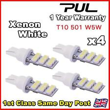 4 x Xenon White 9 SMD LED 501 T10 Side/Number Plate Interior Light SUPER BRIGHT