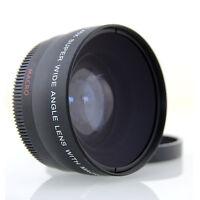 0,45x Weitwinkel Makro Linse 58mm Anschlussgewinde Objektive für Olympus E1 E3