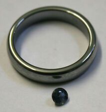 NATURAL BLUE SAPPHIRE GEMSTONE 4MM ROUND GEM 0.4CT FACETED SA69D