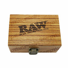 Authentic RAW Deluxe Small Wooden Box Rolling Smoking Stash