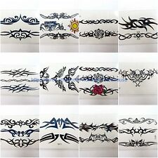 US Seller-10 sheets temporary tattoo tribal arm wrist hand tramp stamp wholesale
