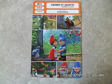 CARTE FICHE CINEMA 2011 GNOMEO ET JULIETTE