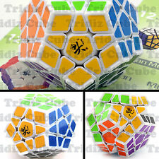 Dayan Megaminx White Body w/Ridges Dodecahedron puzzle smooth New - US SELLER -
