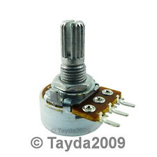 2 x 500K OHM Logarithmic Taper Potentiometer Pot A500K 500KA FREE SHIPPING