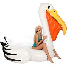 Pelican Pool Float Gigantic Raft Inflatable Ride-ons Swimming Toy Kid Adult 7 Ft