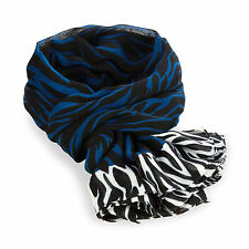 Kipling Woven Winter Scarf BLUE ZEBRA in Gift Box RRP £32 SALE PRICE