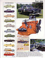 1952 Ford Crestline + Customline + Sunliner Convertible Article - Must See !!