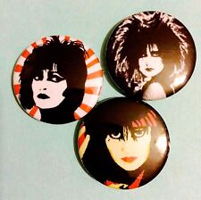 Set Of 3 Siouxsie and the Banshees button pin badges