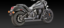 KAWASAKI VN 900 Custom & Classic BLACK SLASHCUT EXHAUST (Vance and Hines 48397)