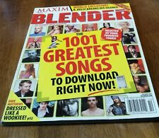 """Maxim Blender MAGAZINE October 2003 """"THE 1001 GREATEST SONGS TO DOWNLOAD NOW"""""""