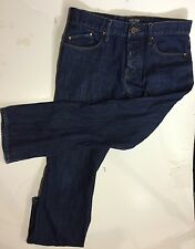 WILLIAM RAST TAPER Mens Jeans Button Fly Selvedge Blue Denim Pants 32x30 Inches